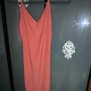 Cute simple orangish dress with V neck
